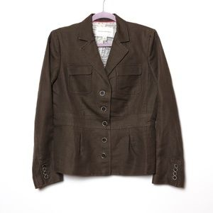 Banana Republic | Lined Fitted Linen Blazer 10